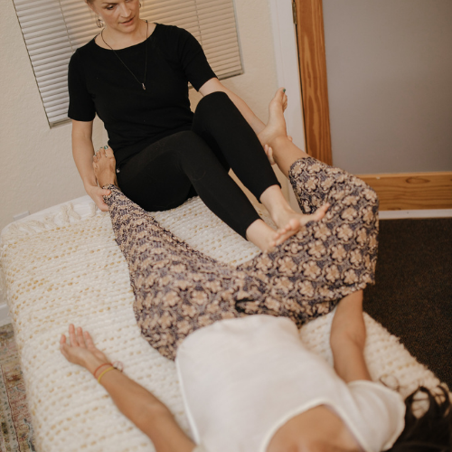 massage therapy in action